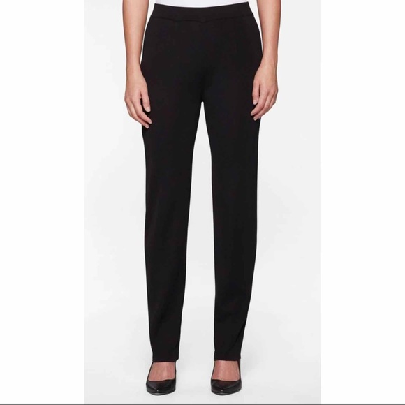 Exclusively Misook Black Straight Leg Pant